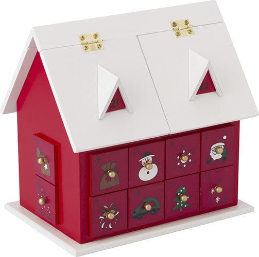 adventskalender haus werbegeschenk aus holz. Black Bedroom Furniture Sets. Home Design Ideas