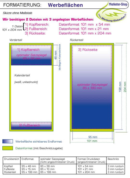 Druckdaten-Bereitstellung für Mini-Kalender