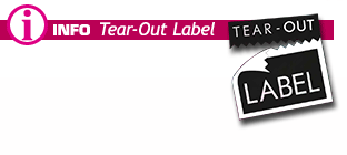 Infos about Tear-Out Label as concept for own branding